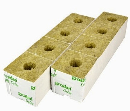 Grodan Rockwool Cubes 3″ Small Hole x8