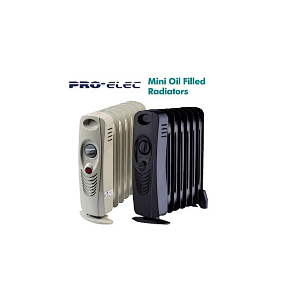 PRO-ELEC 700w Mini Oil Filled Radiator