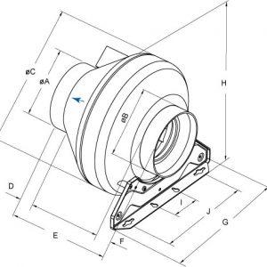 RVK In-line Duct Fans-3197