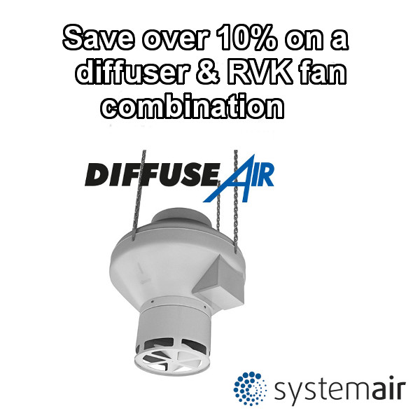 Systemair DiffuseAir Diffuser and RVK Fan Sale-0
